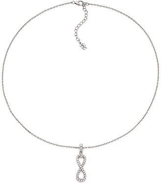 Folli Follie Fashionably Silver Essentials Rhodium-Plated Short Necklace