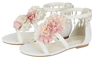 Monsoon Pastel Pom Pom Flower Sandals