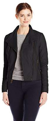 Marc New York by Andrew Marc Women's Feather Leather Moto Jacket $188.32 thestylecure.com