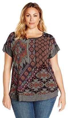 Single Dress Women's Plus Size Della Short Sleeve Top $10.04 thestylecure.com