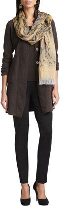 Eileen Fisher Felted Merino Long Jacket, Women's