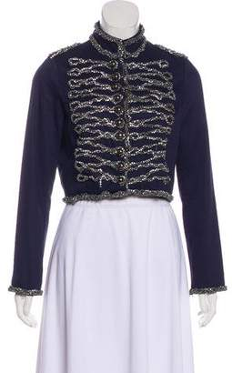 Gryphon Embellished Cropped Jacket