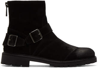 Belstaff Black Suede Trialmaster Boots
