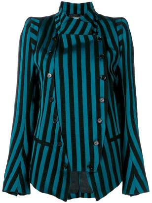 Ann Demeulemeester deconstructed striped jacket