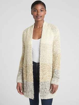 Gap Open-Front Ombre Stripe Cardigan Sweater