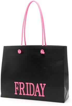 Alberta Ferretti Leather Friday Shopping Bag
