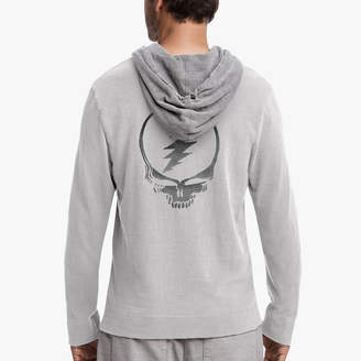 James Perse GRATEFUL DEAD SKULL EMBROIDERED HOODIE