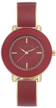 Anne Klein Women's Red Bangle Watch, 34mm