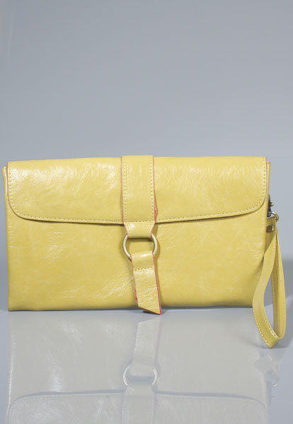 Flap Front Clutch in Yellow
