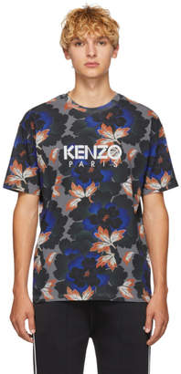 Kenzo Grey Indonesian Flower Straight T-Shirt