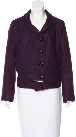 VersaceVersace Alpaca-Blend Short Coat