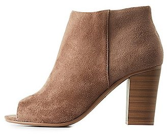 Peep Toe Ankle Booties $38.99 thestylecure.com