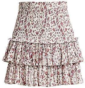 Etoile Isabel Marant Women's Naomi Floral Smocked Mini Skirt