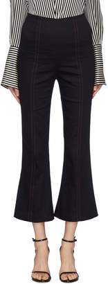 C/Meo Collective 'Harmonious' contrast topstitching cropped flared pants