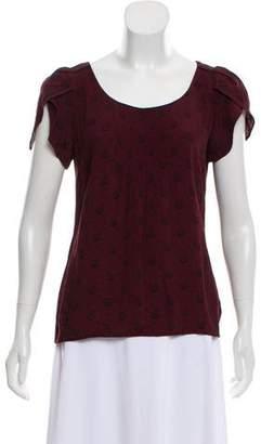 Comptoir des Cotonniers Printed Short Sleeve Top
