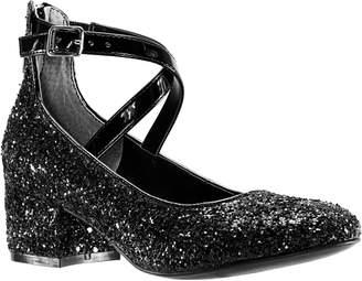 Nina Deisy Glitter Block Heel Pump