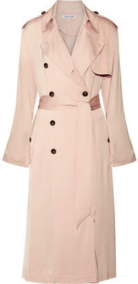 Elizabeth and James - Aaron Satin Trench Coat - Peach $695 thestylecure.com