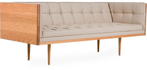 De La Espada box sofa compact - oak