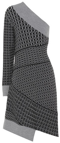 Burberry Burberry Cable-knit wool-blend dress