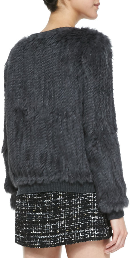 Milly Knitted Fur Sweater