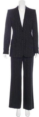 Dolce & Gabbana Metallic Pinstripe Pantsuit $295 thestylecure.com