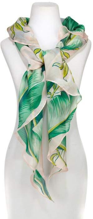 Echo Design Echo Palm Print Silk Triangle Scarf