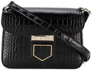 Givenchy Black Croc Nobile mini crossbody bag