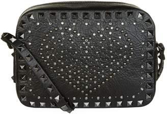 Valentino Leather Rockstud Heart Camera Bag