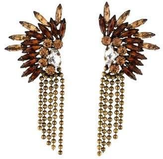 Dannijo Crystal Ball Chain Drop Earrings