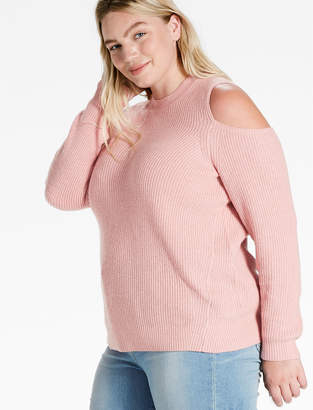Lucky Brand COLD SHOULDER PULLOVER