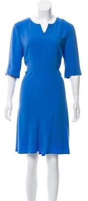LK Bennett Short Sleeve Knee-Length Dress