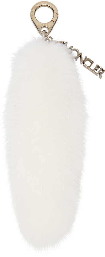 MonclerMoncler White Fur Keychain