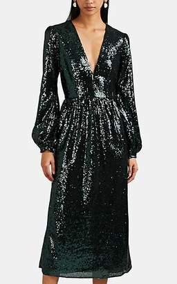 Saloni Women's Camille Sequined Midi-Dress - Dk. Green