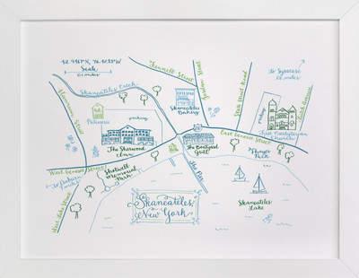 Skaneateles, New York Map Art Print