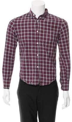 Band Of Outsiders Woven Plaid Button-Up Shirt