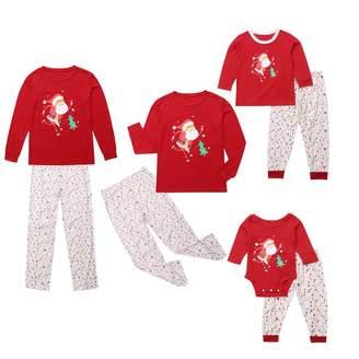 dc3f08df32 Pretty.auto Family Christmas Pajamas Set Santa Sleepwear Nightwear Matching  Outfits