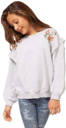 Dex Girl's Embroidered Cotton Blend Top