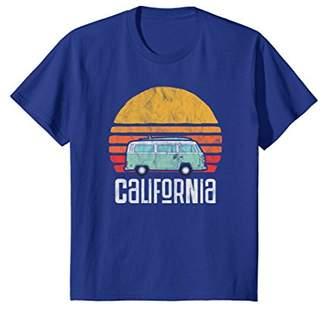 Retro California Hippie Van Beach Bum Surfer T-Shirt