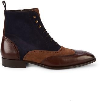 Mezlan Brogue Leather Boots