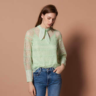 Sandro Long-sleeved lace top