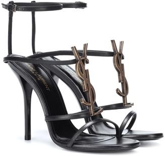 Saint Laurent Cassandra 110 leather sandals
