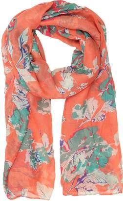 Sakkas CQSXS-7 - Nichole summer gauze featherweight patterned versitile sheer scarf wrap - 7-Black/White - OS