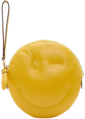 Anya Hindmarch Yellow Chubby Wink Clutch