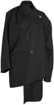 Balenciaga Asymmetric Virgin Wool Coat