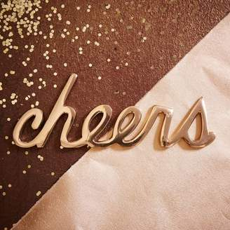 west elm Brass Word Object - Cheers