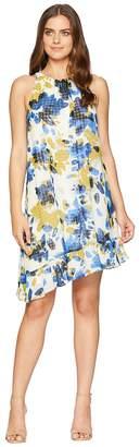London Times Asymmetrical Ruffle Dress Women's Dress