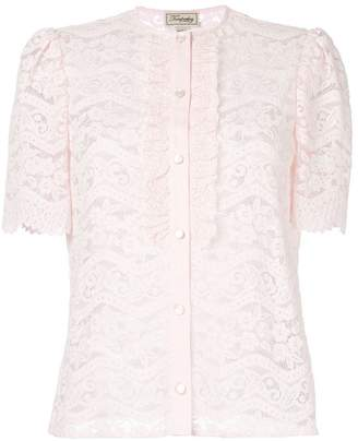 Temperley London Lunar lace-detail blouse