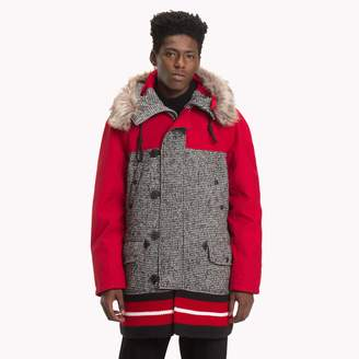 Tommy Hilfiger Colorblocked Hooded Coat