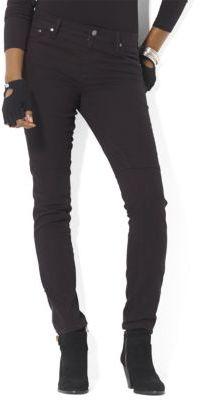 Lauren Ralph Lauren Ankle-Zip Moto Jeans