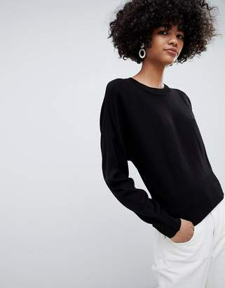 Asos DESIGN fine sweater with grown on sleeve
